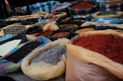 Spices, spices everywhere.