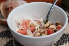 Palm salad and Chocho Salad