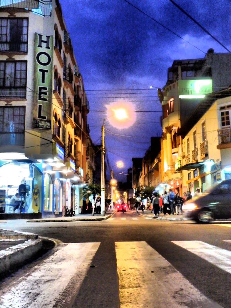 The Streets of Baños at night