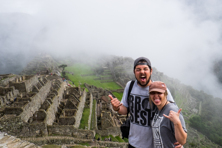 After 4 days of trekking through the Andes Mountains we finally made it Machu Picchu! What a glorious sight!