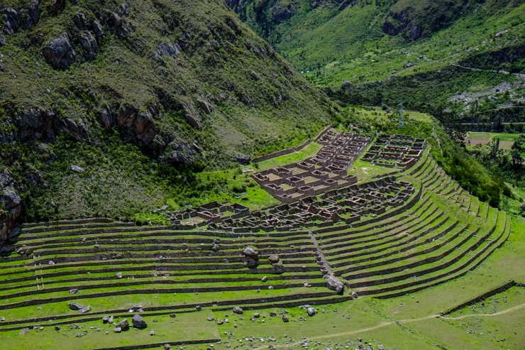 Ladies and Gentlemen, meet Llactapata.  Our first look at the epic ruins of the Inca Trail.