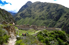 An Incan lookout over Llactapata, our first hands on site of the trail.