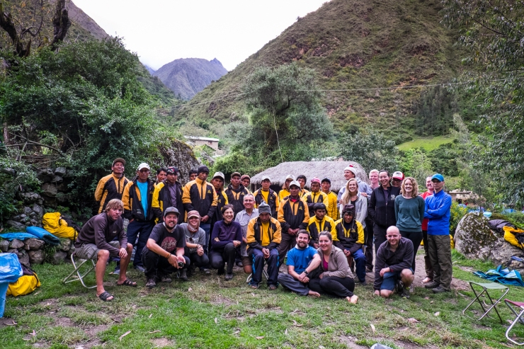 First camp with our guides and porters.