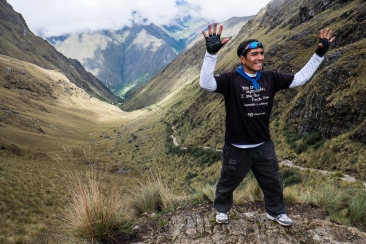 Our awesome guide Raul, celebrating at the top like the rest of us.