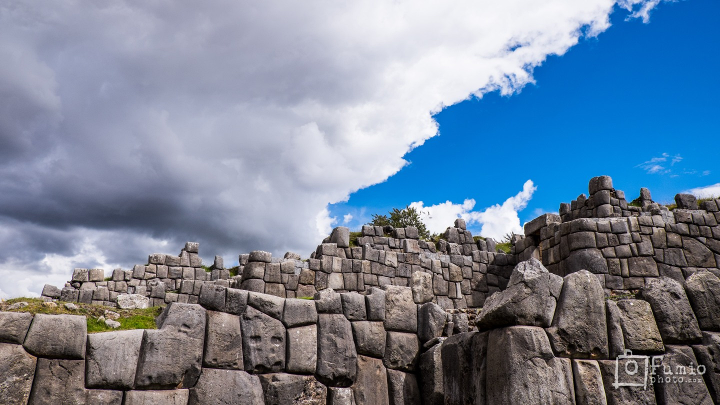 The massive walls of Saqsaywaman
