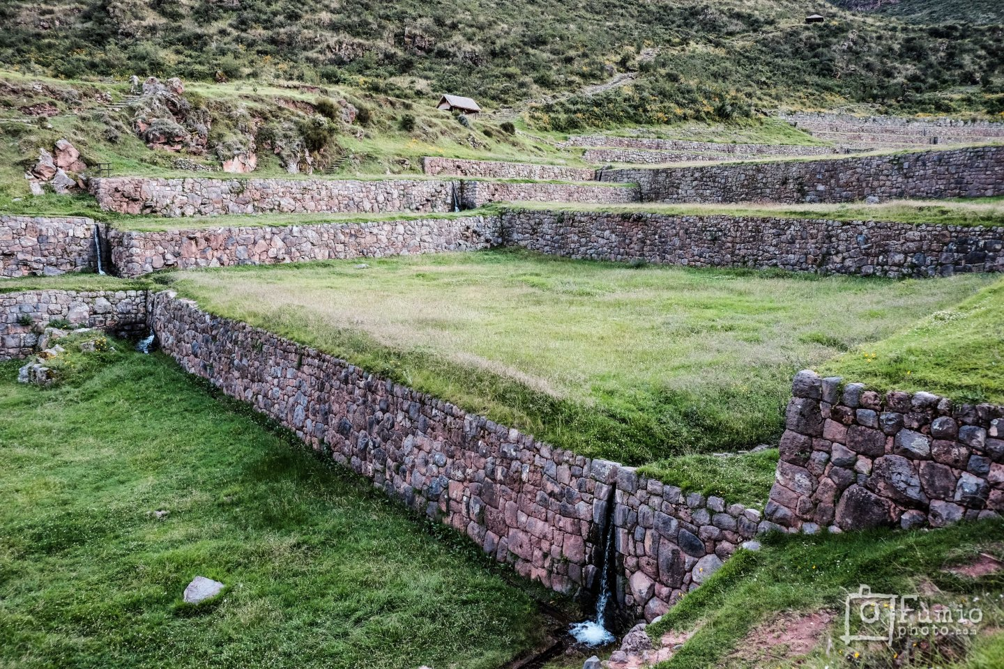 Tipon, a mega terrace for water worship. (I wish there was some scale, those walls are about 9' tall)