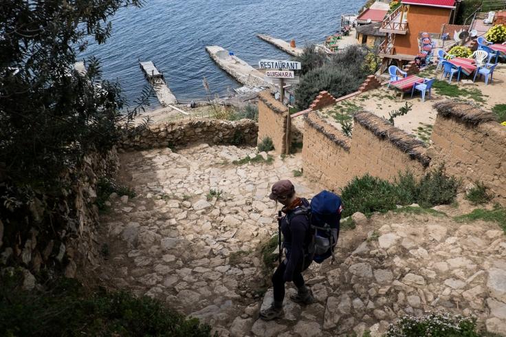 Down down the Inca steps